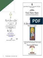 2015 - 8 May - St John Divine Theologian Apostle Evangelist