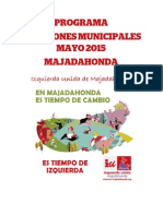 Programa  electoral de IU-LV Majadahonda 2015