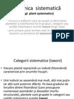 Botanica Sistematică I - Partea 1