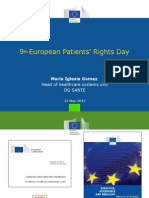 9th European Patients Rights Day - Maria Iglesia Gomez