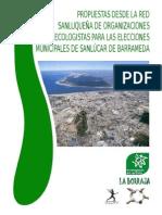 Propuestas Desde La Red Sanluqueña de Organizaciones Ecologistas Para Las Elecciones Municipales de Sanlúcar de Barrameda 2015