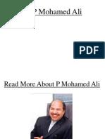 P Mohamed Ali_Profile