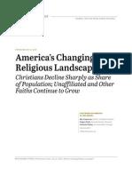 Pew report on US religion