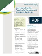 Understanding the Residential Development Standards ResCode PN27 June 2014