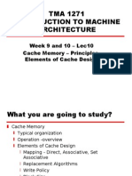 16406810 Machine Architecture 14 Cache Memory Principles Elements of Cache Design