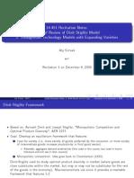 Dixit Stiglitz Model Overview