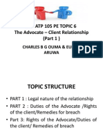 KSL ATP 105 PE TOPIC 6 Part 1The Advocate-client Relationship
