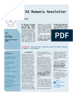 ECSA Romania Newsletter Issue No. 5