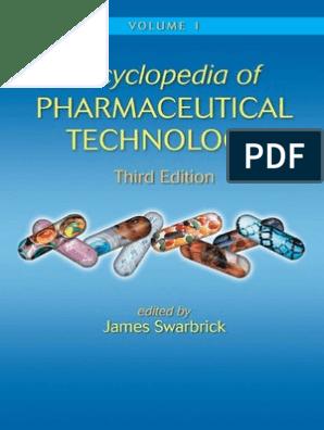 Encyclopedia of Pharmaceutical Technology, Third Edition pdf