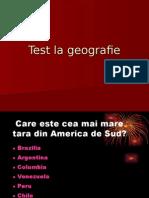 Test La Geografie