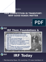 UNTRR-IRU Conference Bucharest May 2015 - IRF Presentation