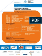Uk Affiliate Annual Conference Flyer