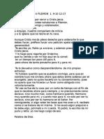 Carta de Pablo a Filemon 1