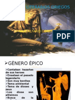 GÉNEROS LITERARIOS GRIEGOS