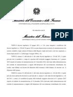 Decreto Del Ministero DellEconomia e Delle Finanze Di Concerto Con Il Ministero DellInterno Del 2 Aprile 2015