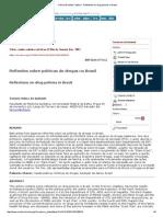 Ciência & Saúde Coletiva - Reflections on Drug Policies in Brazil