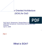 Service Oriented Architecture (SOA) for DoD