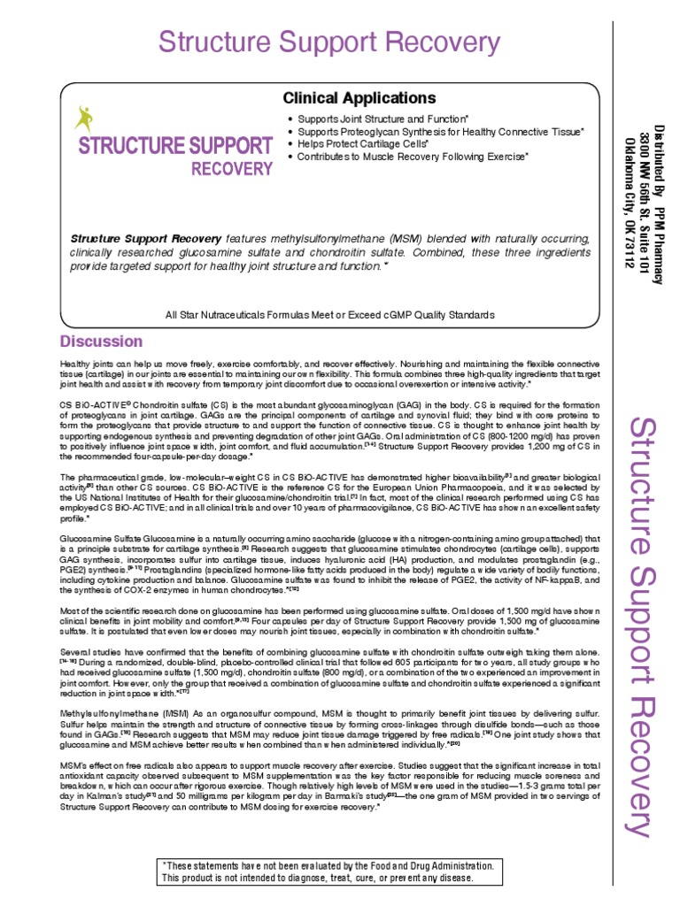 structure support recovery | Osteoarthritis | Pharmaceutical