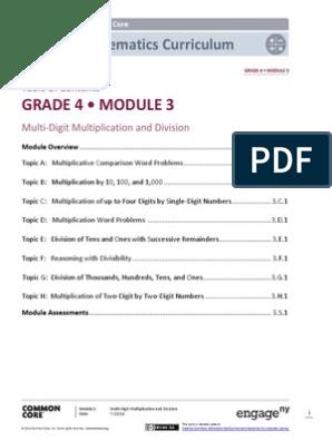 Math Module 3   Division (Mathematics)   Multiplication