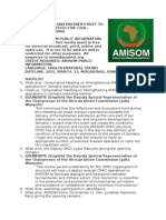 AMISOM and Partners Meet to Strategize on Effective Civil-military Relations