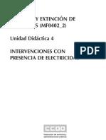 Control y ExtinciÓn de Incendios (Mf0402_2) Unidad