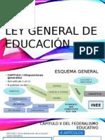 capitulos de la ley general de educacion