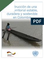 Contrucción de una paz estable y duradera en Colombia