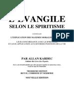 L'Evangile Selon Le Spiritisme - Allan Kardec