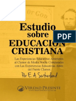 Estudio Sobre Educación Cristiana