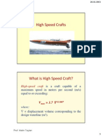 Introduction to high speed crafts