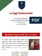 Le Leggi Fondamentali della chimica