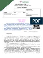 Teste DiáRio de Anne Frank