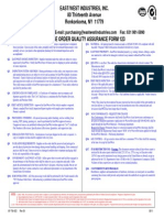 Purchase Order Quality Assurance Form