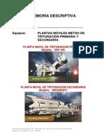 Memoria Descriptiva - Metso Planta NW106+Planta NW200HPC.pdf
