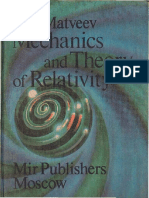 Mechanics and Theory of Relativity [ A. N. Matveev (1989)]