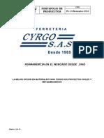 CV9 Portafolio de Productos