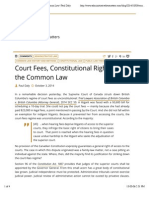 Court Fees, Constitutional Rights and the Common Law | Paul Daly