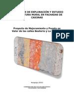 Expediente de Exploración y Estudio de La Pintura Mural en Fachadas de Casonas