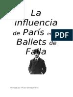 La Influencia de Paris en Los Ballets de Falla