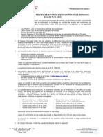 Declaración de Recibo de Información Contrato de Servicio Educativo 2015