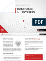 11 UX Rules for IT Developers