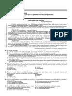 Ensino Técnico Integrado 2015-1 (Prova)