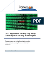 2012 Application Security Gap Study_A Survey of IT Security & Developers