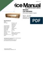 Mazda Panasonic Cn-Vm4360a Service Manual
