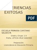 Experiencias Exitosas Leticia Cruz Cayetano Valades