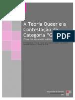 A teoria queer e a contestação da categoria 'género'