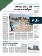 12-05-2015 - El Comercio - Portafolio - La Industria Usa Solo El 6% Del Agua Que Se Consume en El País
