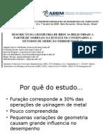 Apresentação1geometria de broca Hc a partir de modelos matematicos