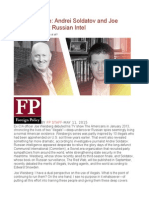 The Exchange Andrei Soldatov and Joe Weisberg Talk Russian Intel