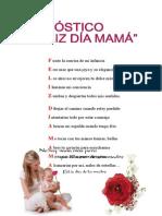 Acrostico - Feliz Dia Mama